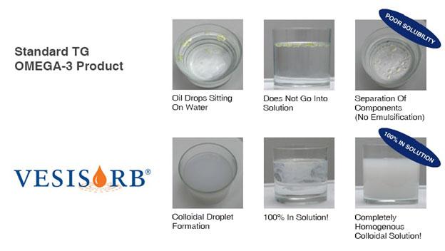 Verisorb versus Standard OMEGA-3 Product