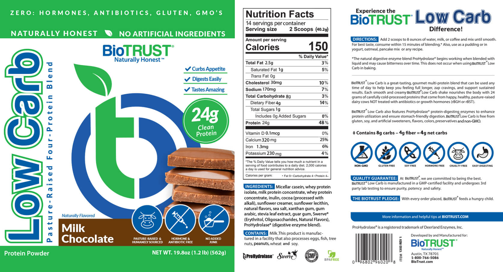 BioTrust Low Carb Milk Chocolate