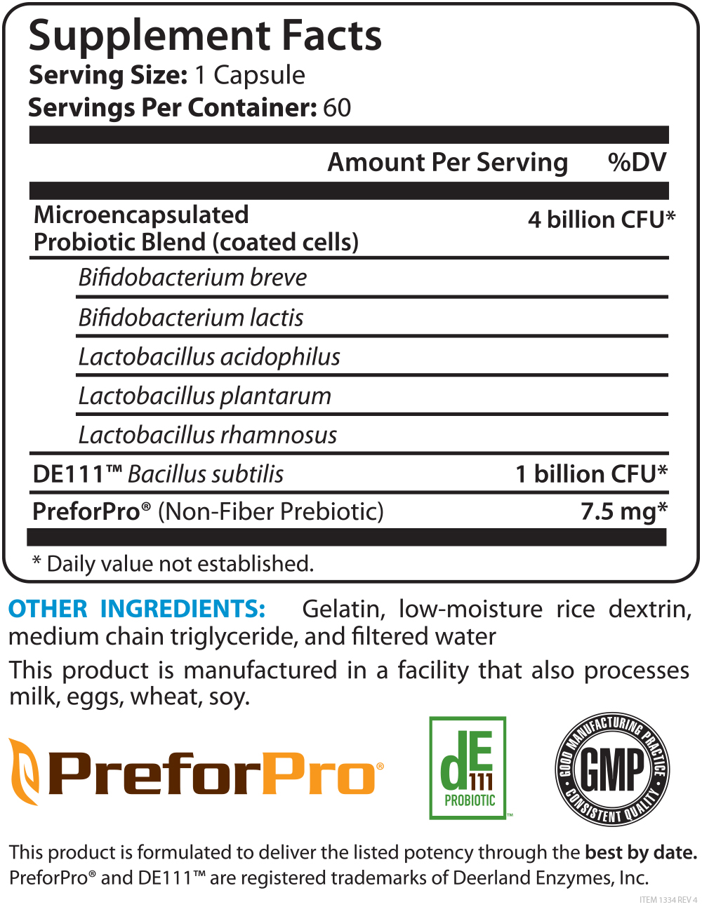Pro-X10 Supplement Facts