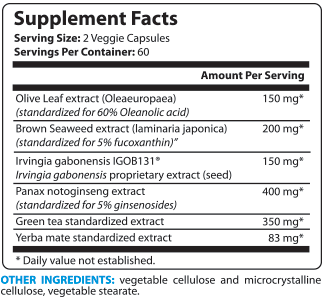 LeptiBurn Supplement Facts
