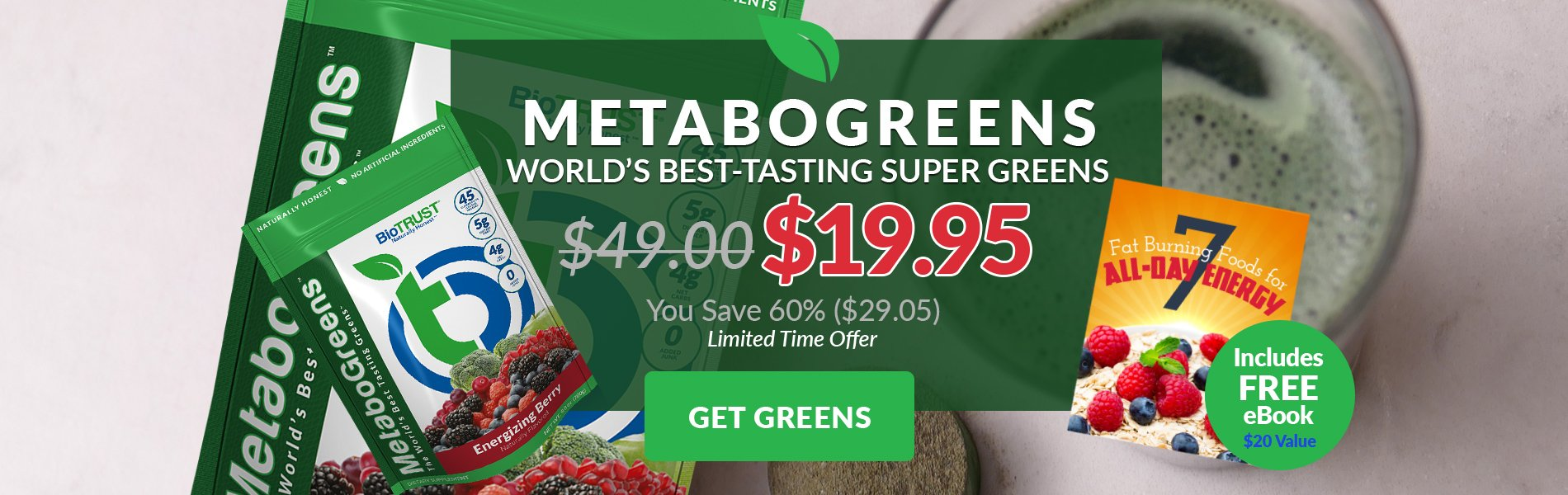 metabogreens world's best-tasting super greens $19.95