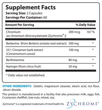 IC5 Supplement Facts