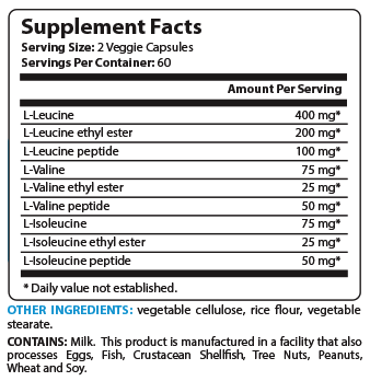 BCAA Matrix Supplement Facts